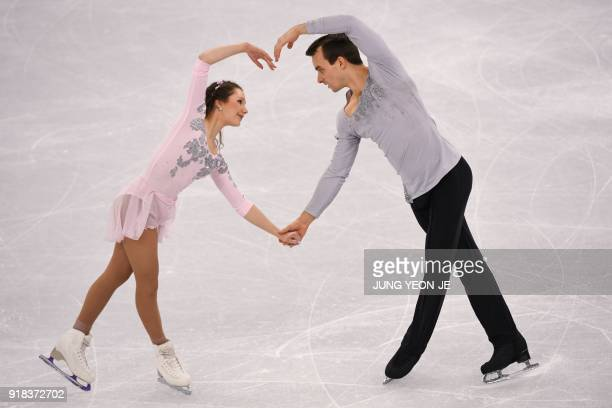 TOPSHOT Germany's Annika Hocke and Germany's Ruben Blommaert compete in the pair skating free skating of the figure skating event during the...
