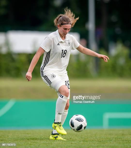 Germany's Annika Wohner in action during the Under 15 girl's international friendly match between Germany and the Czech Republic at Stadion am...