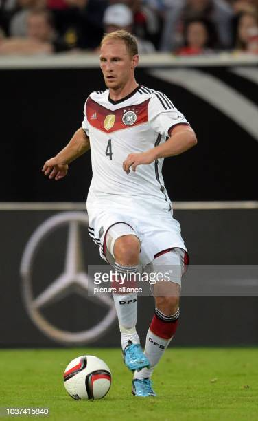 Germany's Benedikt Hoewedes vied for the ball during the international soccer match between Germany and Argentina at Esprit arena in Duesseldorf...