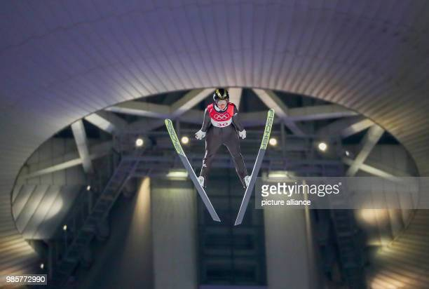 Germany's Carina Vogt in action during the women's ski jumping at Alpensia Ski Jump Centre during the Olympic Winter Games in Pyeongchang South Korea...