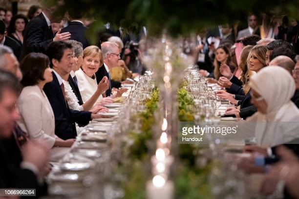 Germany's Chancellor Angela Merkel during the dinner for the participants and partners of the G20 Summit at the Colon Theatre in Buenos Aires...