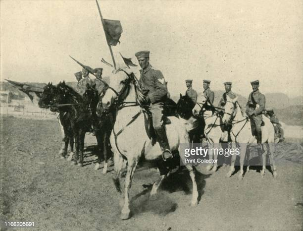 """Germany's Colonial Army: Cavalry Contingent in South-West Africa' . German troops at the start of the First World War. From """"The Great World War - A..."""