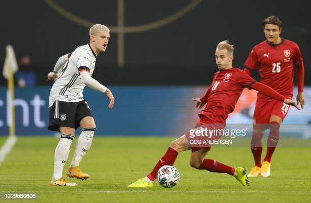 Germany's defender Philipp Max and Czech Republic's forward Vaclav Cerny vie for the ball during the international friendly football match Germany v...