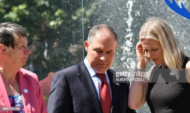 Germany's Environment Minister Barbara Hendricks head of the Environmental Protection Agency Scott Pruitt and Canada's Environment Minister Catherine...