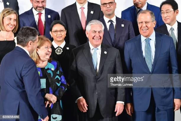 Germany's Federal Minister of Foreign Affairs Sigmar Gabriel, Argentina's Minister of Foreign Affairs and Worship Susana Malcorra U.S. Secretary of...