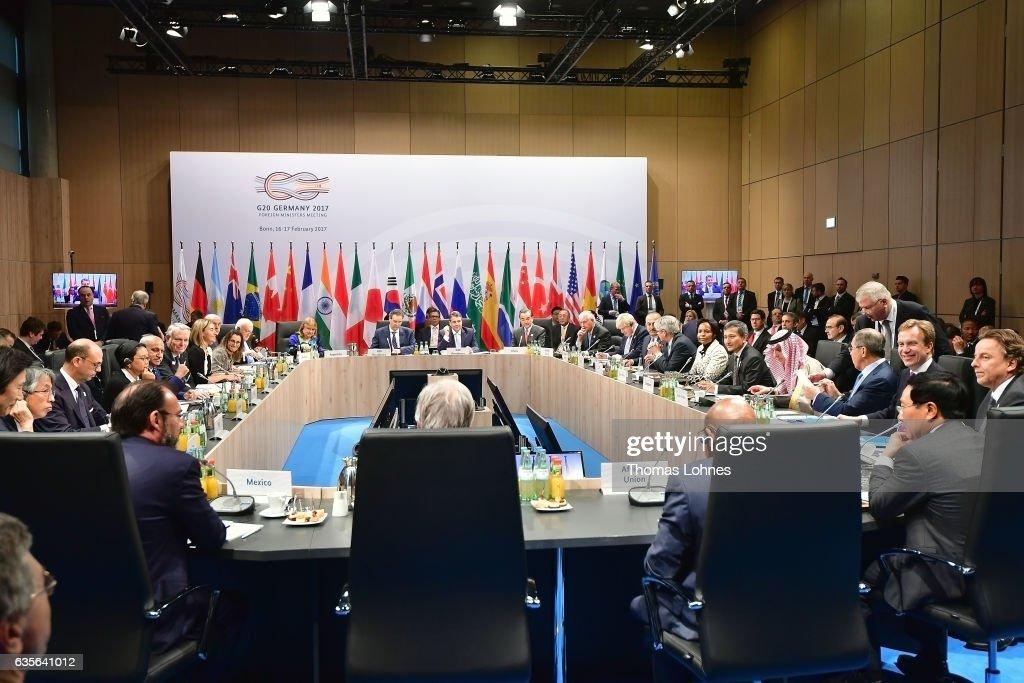 G20 Foreign Ministers Meet In Bonn : News Photo