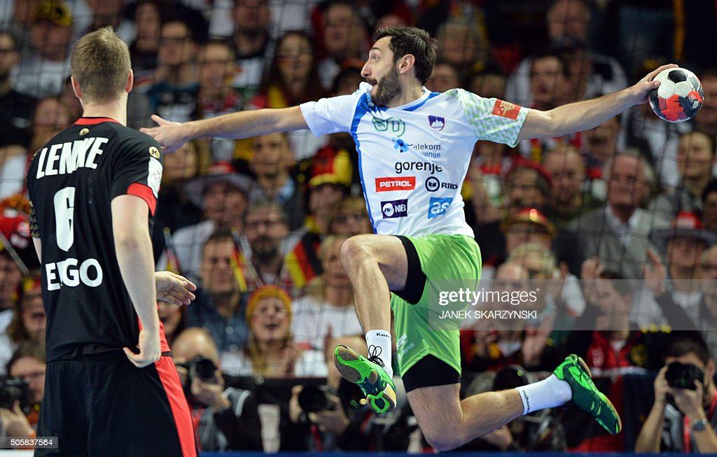 Germany S Finn Lemke Challenges Slovenia S Dragan Gajic