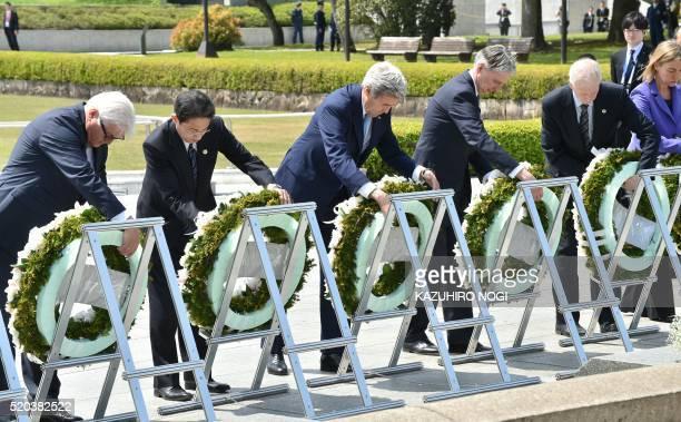 Germany's Foreign Minister FrankWalter Steinmeier Japan's Foreign Minister Fumio Kishida US Secretary of State John Kerry British Foreign Secretary...