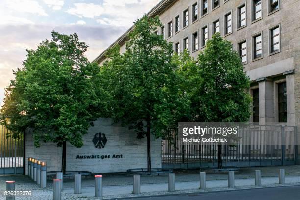 Germanys foreign Office at Werderscher Markt during sunrise on August 04 2017 in Berlin Germany