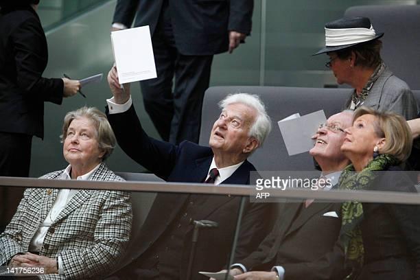 Germany's former state president Richard von Weizsaecker and his wife Marianne von Weizsaecker Former state President Roman Herzog and his wife...