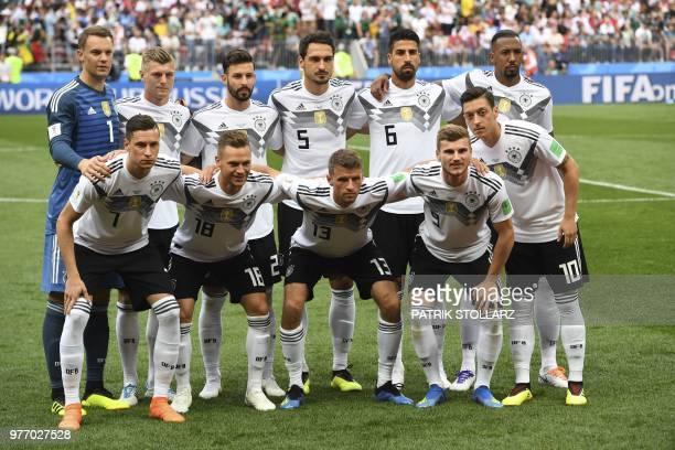 Germany's forward Julian Draxler Germany's defender Joshua Kimmich Germany's forward Thomas Mueller Germany's forward Timo Werner Germany's...