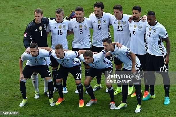 Germany's goalkeeper Manuel Neuer Germany's midfielder Toni Kroos Germany's defender Jonas Hector Germany's defender Mats Hummels Germany's forward...