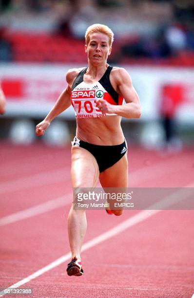Germany's Grit Breuer on her way to victory in the women's 400m