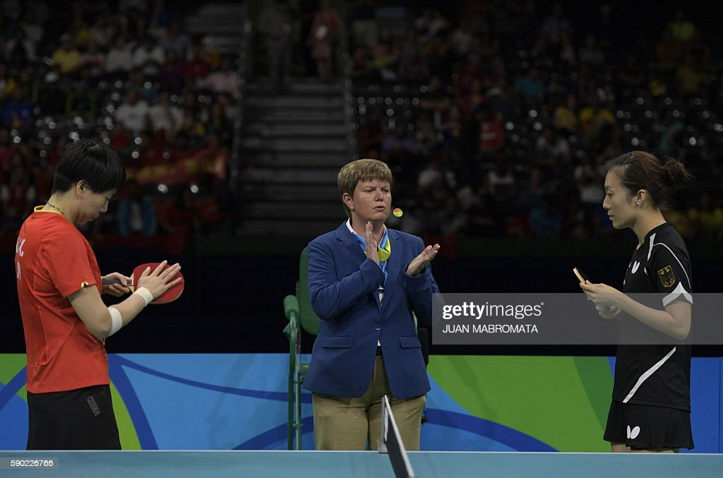 TABLE TENNIS-OLY-2016-RIO-CHN-GER : News Photo