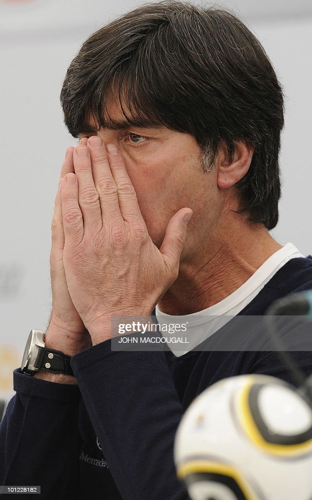 Germany's head coach Joachim Loew addres