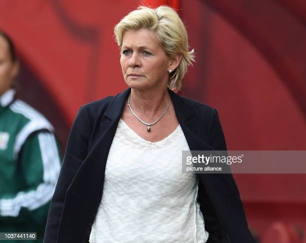 Germany's head coach Silvia Neid reacts during the FIFA Women«s World Cup 2015 Group B soccer match between Thailand and Germany at the Winnipeg...
