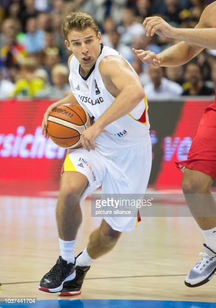 Germany's Heiko Schaffartzik in action during the FIBA EuroBasket 2015 Group B Germany vs Spain in Berlin Germany 10 September 2015 German lost the...