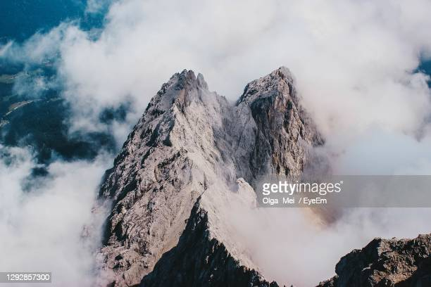 germany's highest mountain zugspitze - active volcano stock pictures, royalty-free photos & images