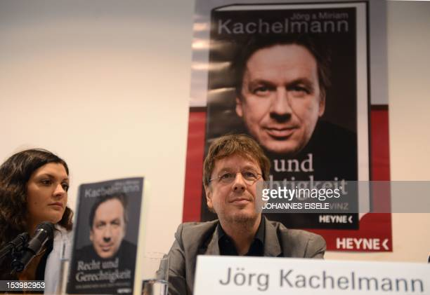 Germany's highprofile TV weatherman Swiss Joerg Kachelmann and his wife Miriam present their book 'Recht und Gerechtigkeit Ein Maerchen aus der...