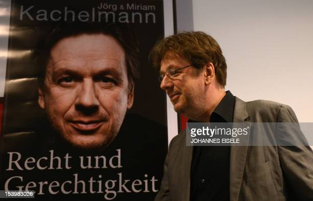 Germany's highprofile TV weatherman Swiss Joerg Kachelmann presents his book 'Recht und Gerechtigkeit Ein Maerchen aus der Provinz' about his months...
