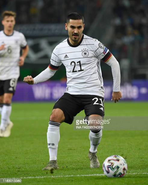 Germany's Ilkay Guendogan controls the ball during the UEFA Euro 2020 Group C qualification football match between Germany and Belarus, on November...