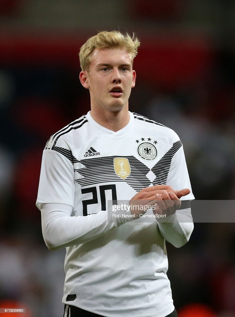 Germany's Julian Brandt during the International Football Friendly match between England and Germany at Wembley Stadium on November 10, 2017 in London, England.