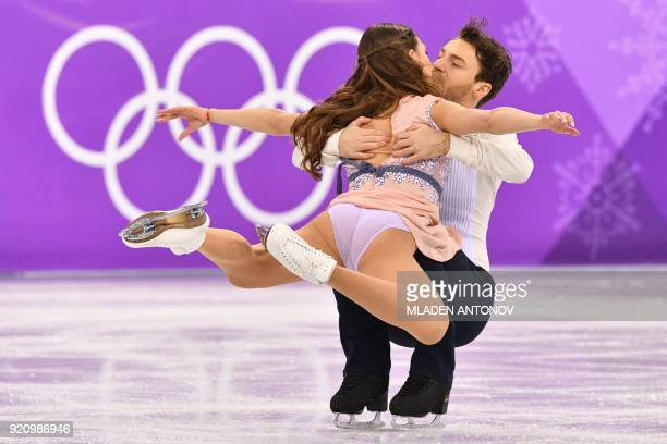 Germany's Kavita Lorenz and Germany's Joti Polizoakis compete in the ice dance free dance of the figure skating event during the Pyeongchang 2018...