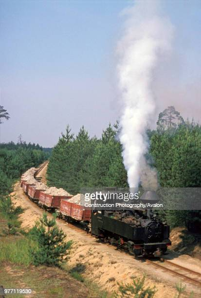 Germany's last active 600mm gauge Feldbahn 080T No 993316 on the clay carrying system at Bad Muskau on Wednesday 29 June 1977 There were the field...