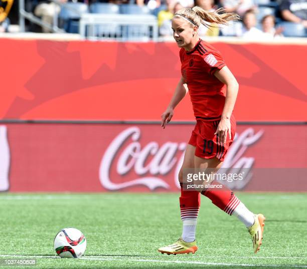 Germany's Lena Petermann looks during the FIFA Women's World Cup 2015 Group B soccer match between Thailand and Germany at the Winnipeg Stadium in...