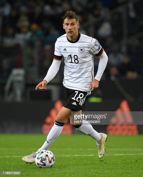 Germany's Leon Goretzka runs with the ball during the UEFA Euro 2020 Group C qualification football match between Germany and Belarus, on November...