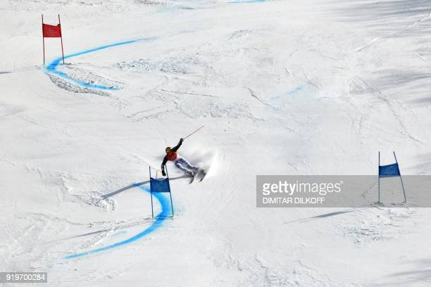 TOPSHOT Germany's Linus Strasser competes in the Men's Giant Slalom at the Jeongseon Alpine Center during the Pyeongchang 2018 Winter Olympic Games...