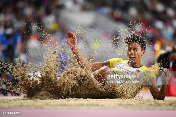 TOPSHOT Germany's Malaika Mihambo competes in the Women's Long Jump final at the 2019 IAAF Athletics World Championships at the Khalifa International...