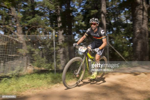 Germany's Manuel Fumic of Team Cannondale Factory Racing takes part in the prologue stage which marks the start of the 2018 Cape Epic African...