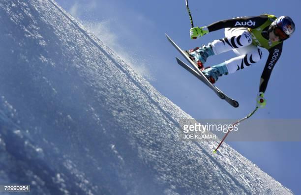 Germany's Maria Riesch competes in the women's downhill alpine FIS World Cup in Altenmarkt-Zauchensee 13 January 2007. Austria's Renate Goetschl won...