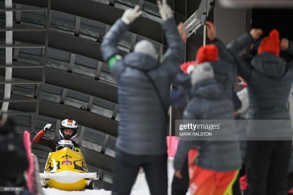 TOPSHOT-BOBSLEIGH-OLY-2018-PYEONGCHANG : News Photo
