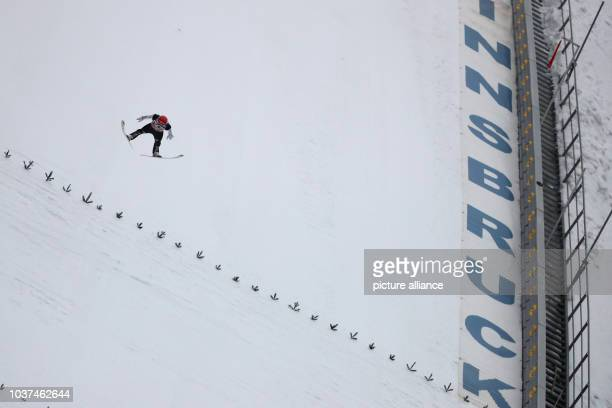 Germany's Markus Eisenbichler jumps from the Bergisel ski jump in the men's 1st run at the Four Hills Tournament ski jumping World Cup in Innsbruck...