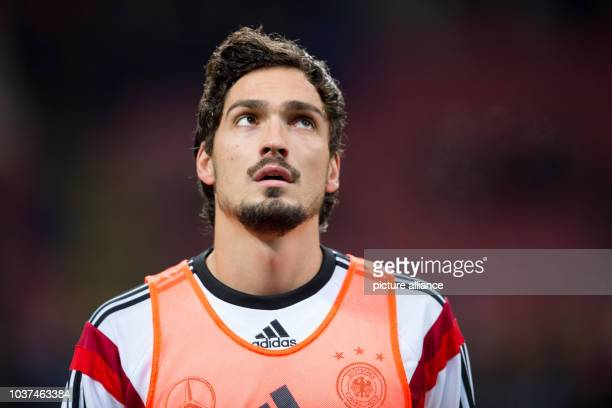 Germany's Mats Hummels during the International Soccer Match Italy vs Germany at the GiuseppeMeazzaStadion in Mailand Italy 15 November 2013 Photo...