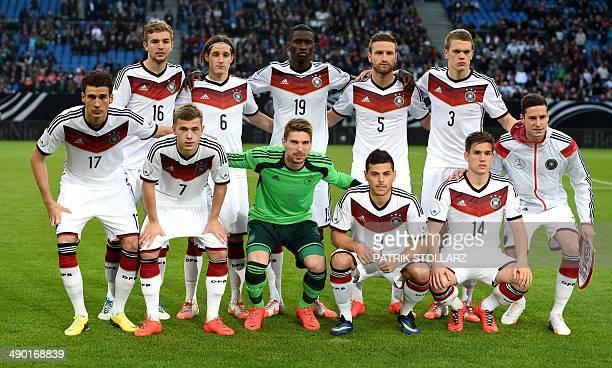 Germany's midfielder Christoph Kramer, Germany's midfielder Sebastian Rudy, Germany's defender Antonio Ruediger, Germany's defender Shkodran Mustafi...