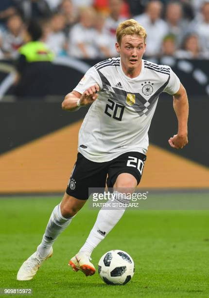 Germany's midfielder Julian Brandt plays the ball during the international friendly football match between Germany and Saudi Arabia at the BayArena...