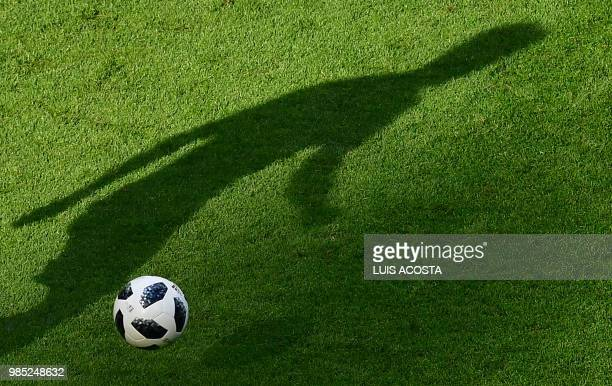 Germany's midfielder Leon Goretzka runs with the ball during the Russia 2018 World Cup Group F football match between South Korea and Germany at the...