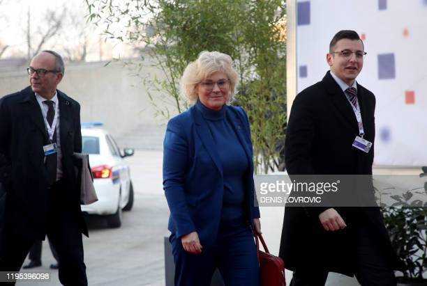 Germany's Minister of Justice and Consumer Protection Christine Lambrecht arrives for the Informal Justice and Home Affairs Ministerial Meeting in...