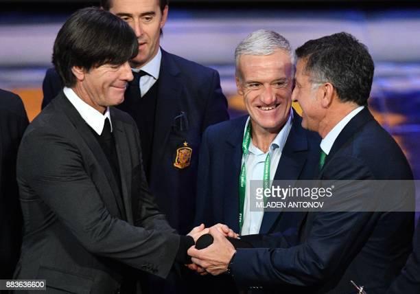 Germany's national football team coach Joachim Loew France's national football team coach Didier Deschamps and Mexico's national football team coach...