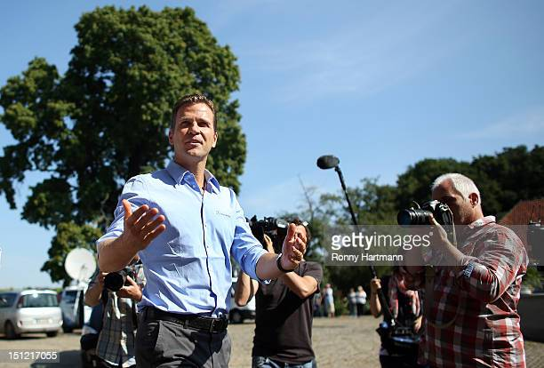 Germany's national football team manager Oliver Bierhoff attaneds a press conference on September 04, 2012 in Barsinghausen, Germany, three days...