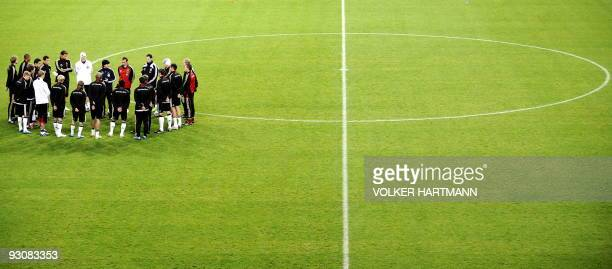 Germany's National football team takes part in a training session on November 16 2009 in Duesseldorf western Germany ahead of a friendly football...