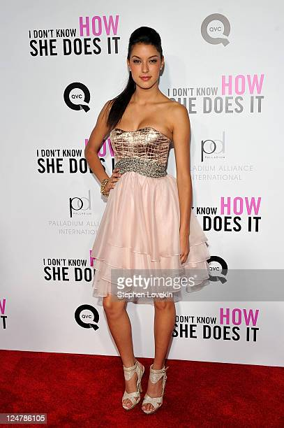 Germany's Next Top Model finalist Rebecca Zarah Mir attends the premiere of The Weinstein Company's I Don't Know How She Does It sponsored by QVC...