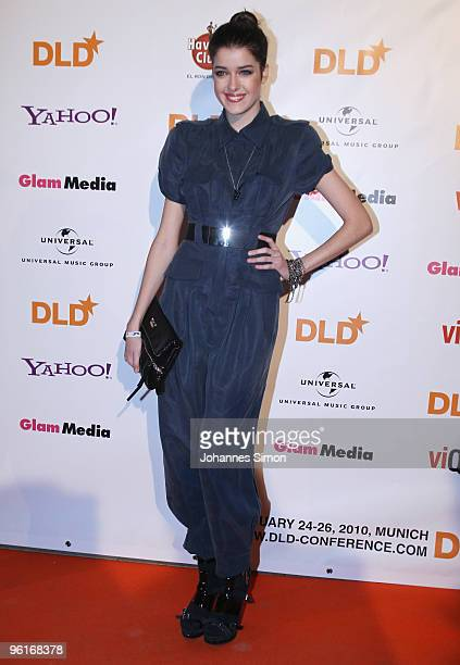 Germany's next Top Model Marie Nasemann arrives for the DLD Starnight at Haus der Kunst on January 25 2010 in Munich Germany