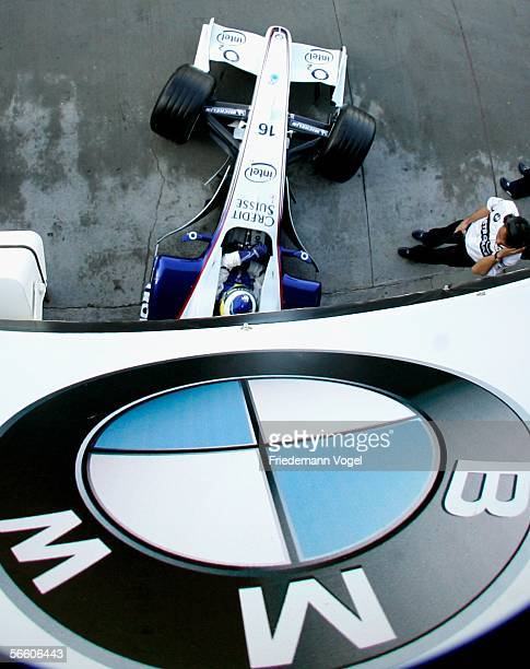 Germany's Nick Heidfeld is shown during the BMW Sauber Formula One Team car launch January 17 2006 in Valencia Spain