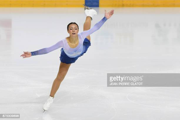Germany's Nicole Schott performs during the women's short program dance during the Internationaux de France ISU Grand Prix of Figure Skating in...
