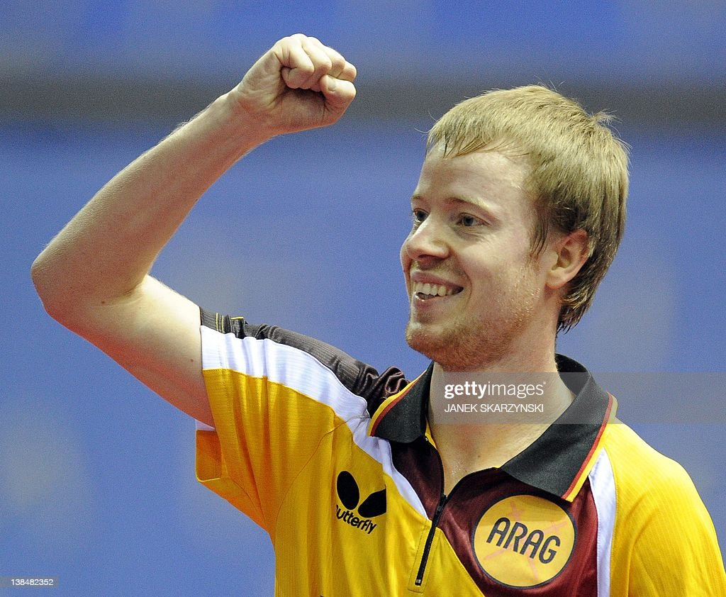 Germany's Patric Baum reacts after he wo : News Photo