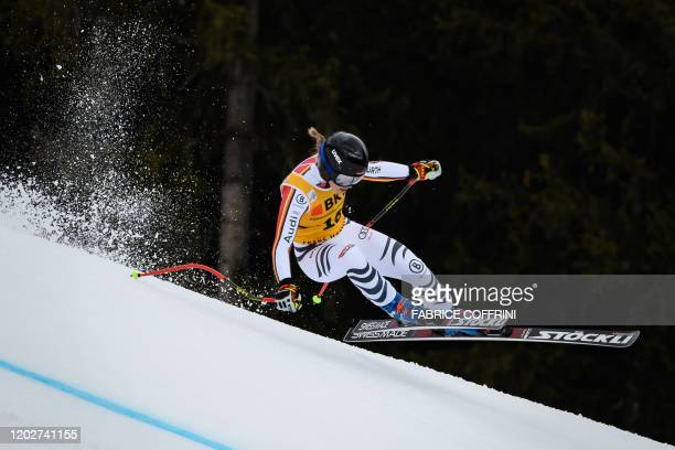 Germany's Patrizia Dorsch competes during the women's SuperG event at the FIS Alpine Ski World Cup Combined in CransMontana on February 23 2020